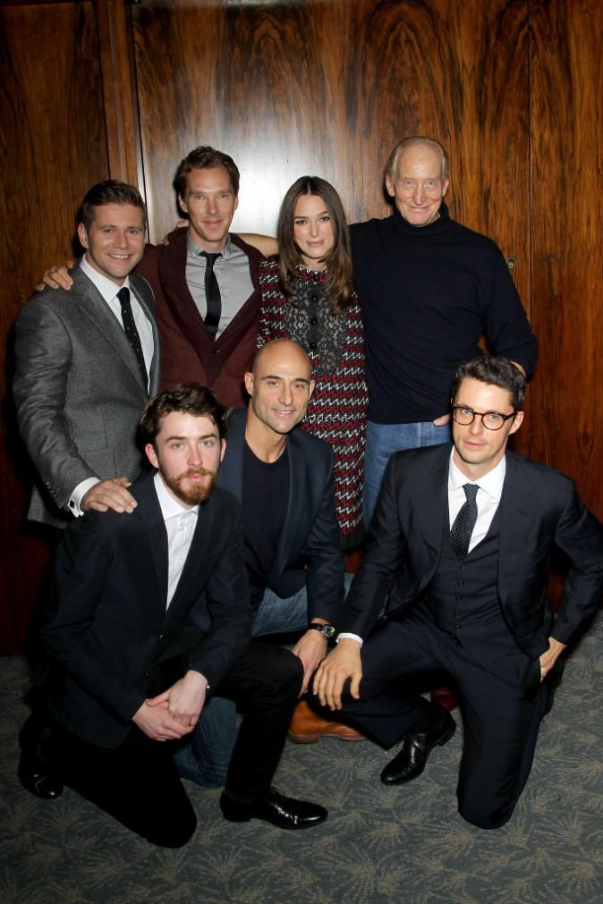 Keira Knightley et l'équipe du film le 17 novembre 2014