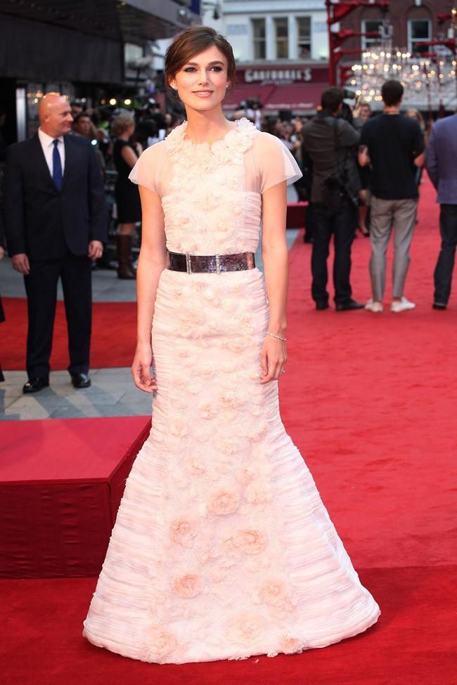 Keira Knightley le 4 septembre 2012 à Londres