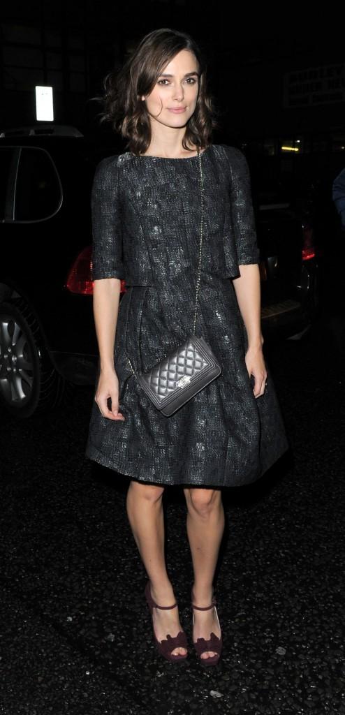 Keira Knightley à Londres, le 11 octobre 2012.