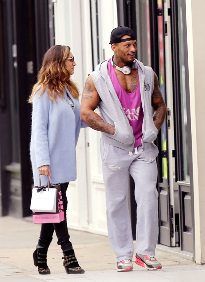 Kelly Brook avec David Mcintosh à Londres le 10 mars 2014
