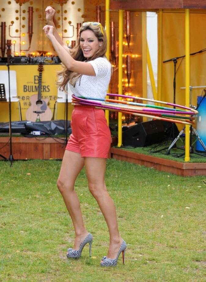 Kelly Brook lors du lancement de la saison du cidre dans le jardin Bulmers Cider Garden à Londres, le 4 août 2011.