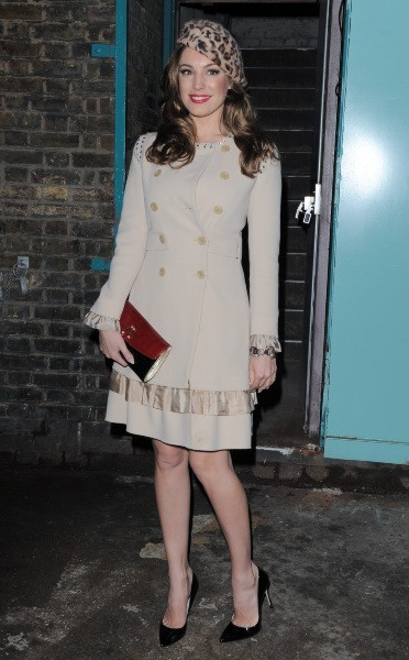 Kelly Brook à Londres, le 14 février 2013.