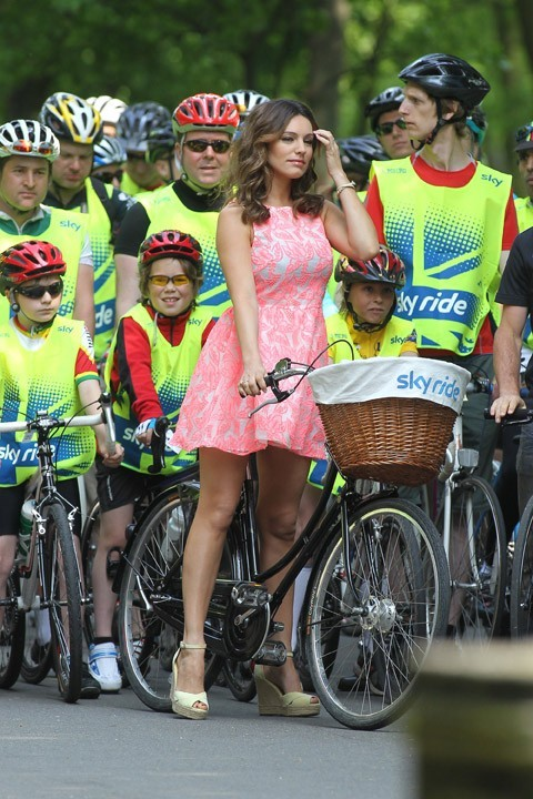 Pas le look d'une cycliste !