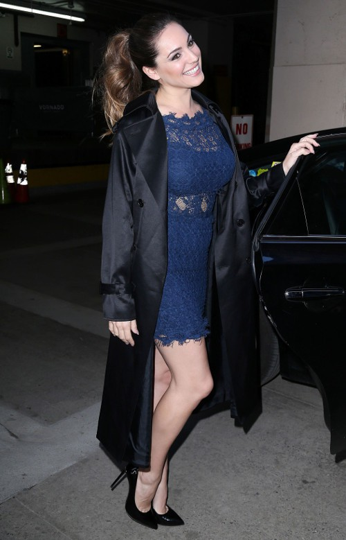 Kelly Brook à New-York le 16 avril 2015