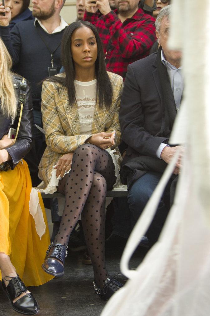 Kelly Rowland n'a pas loupé un défilé de la Fashion Week de Paris