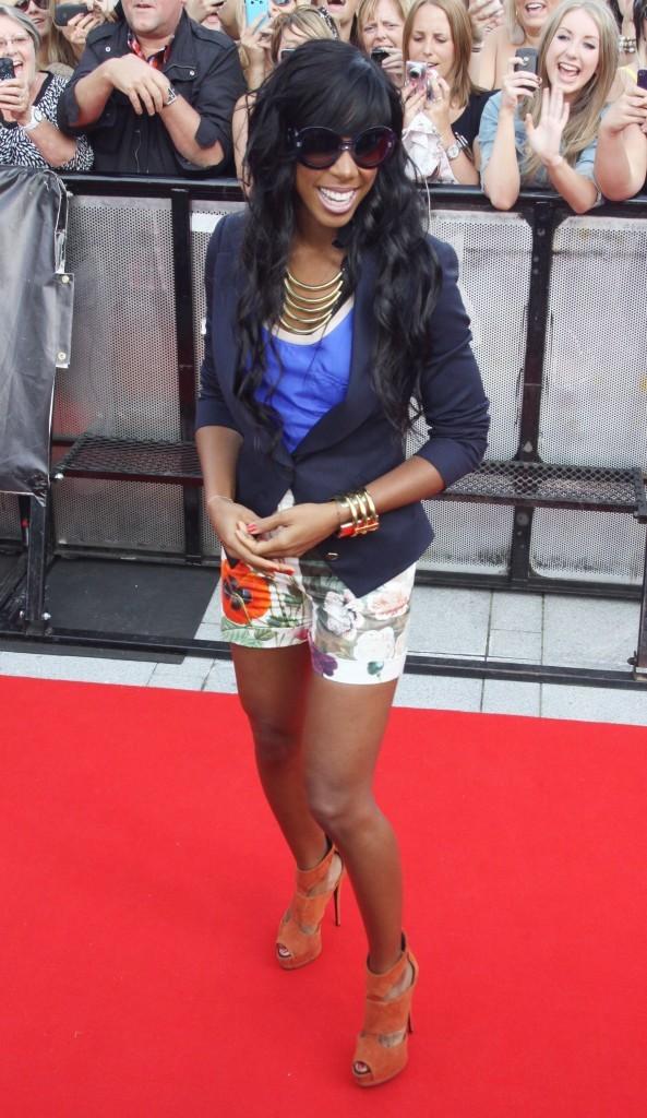 Kelly Rowland lors des auditions du X-Factor anglais à Liverpool, le 13 juillet 2011.