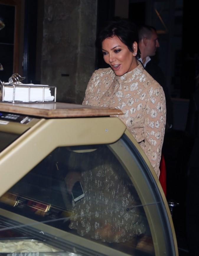 Kris Jenner à Paris le 24 septembre 2014