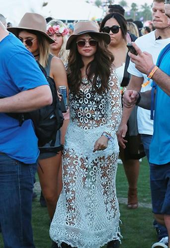 Selena Gomez à Indio le 11 avril 2014