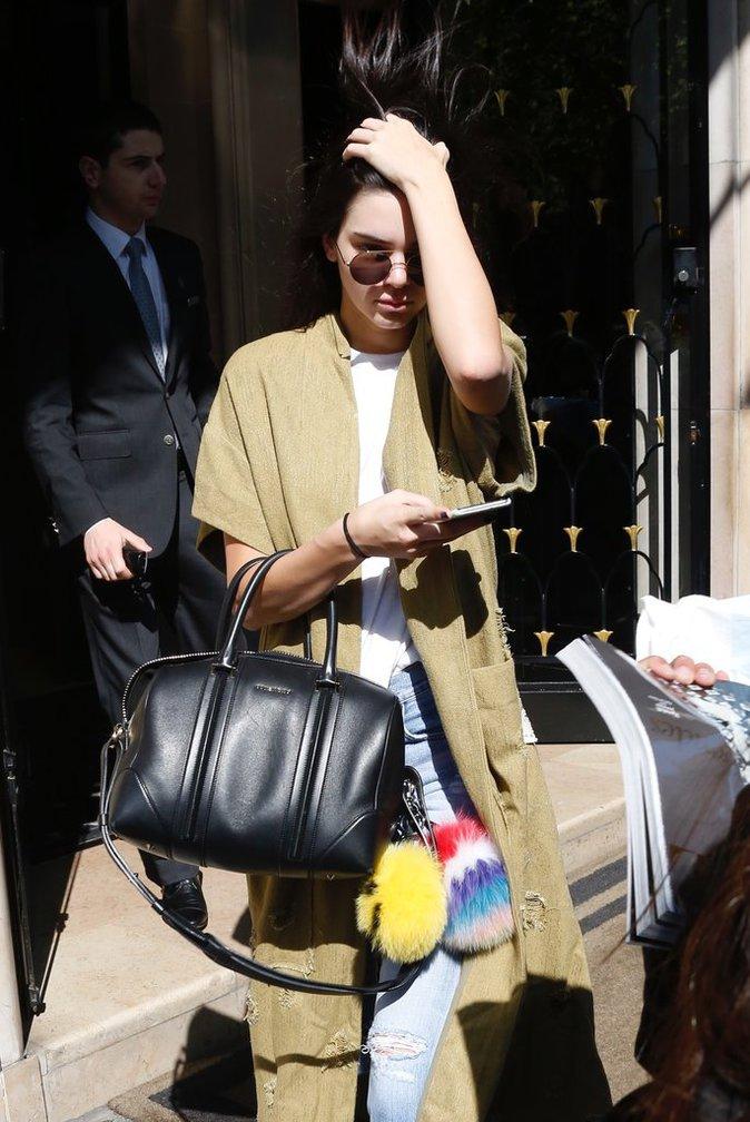 Kendall Jenner à Paris le 20 avril 2016