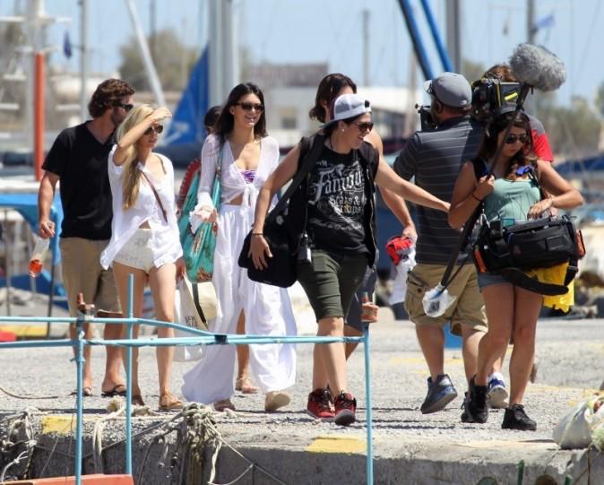 Le clan Kardashian le 29 avril 2013 à Santorin