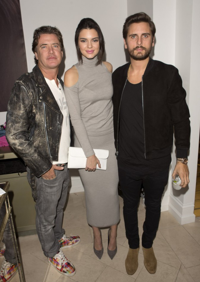 Jimmy Sommers, Kendall Jenner et Scott Disick le 20 novembre 2014