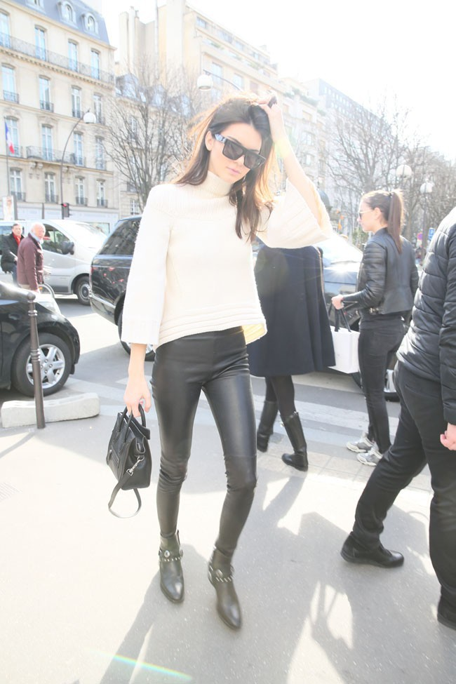 Gigi Hadid à Paris le 6 mars 2015