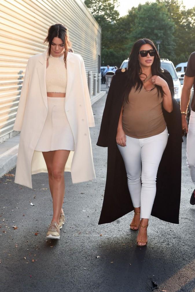 Kendall Jenner et Kim Kardashian le 8 septembre 2015