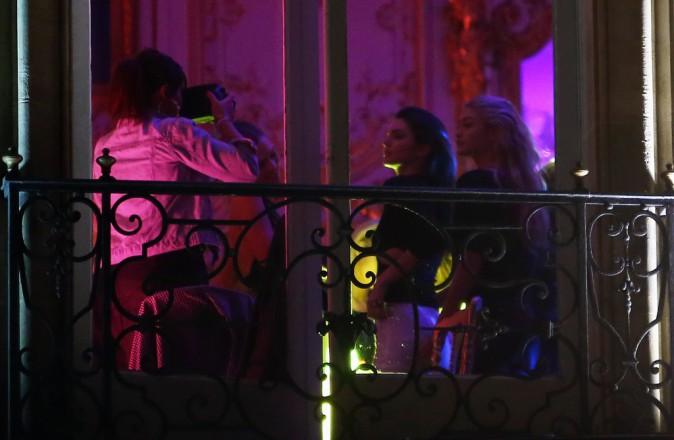 Kendall Jenner et Gigi Hadid à l'after party de Balmain le 25 septembre 2014