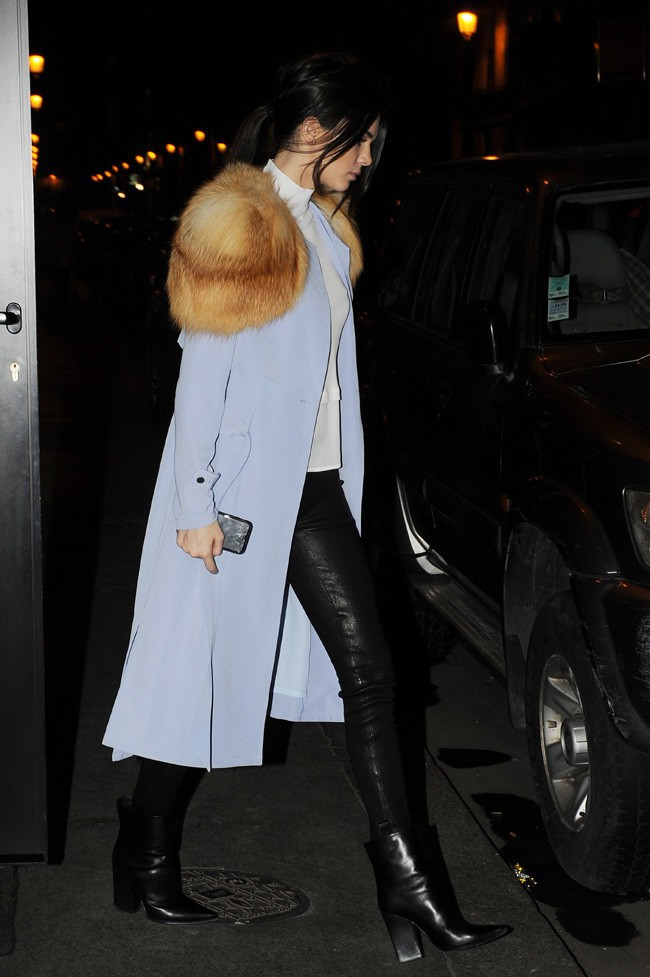 Kendall Jenner à Paris le 25 janvier 2015