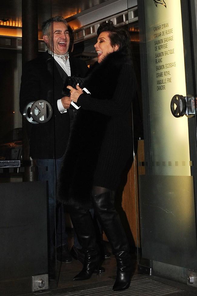 Kris Jenner à Paris le 25 janvier 2015