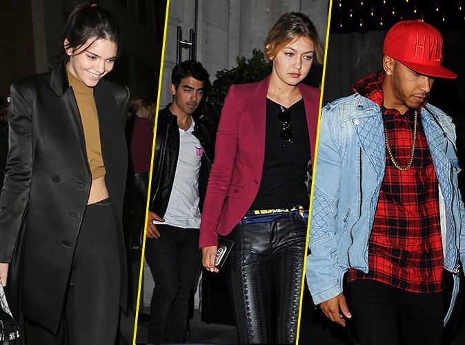 Kendall Jenner, Joe Jonas, Gigi Hadid et Lewis Hamilton le 28 juin 2015