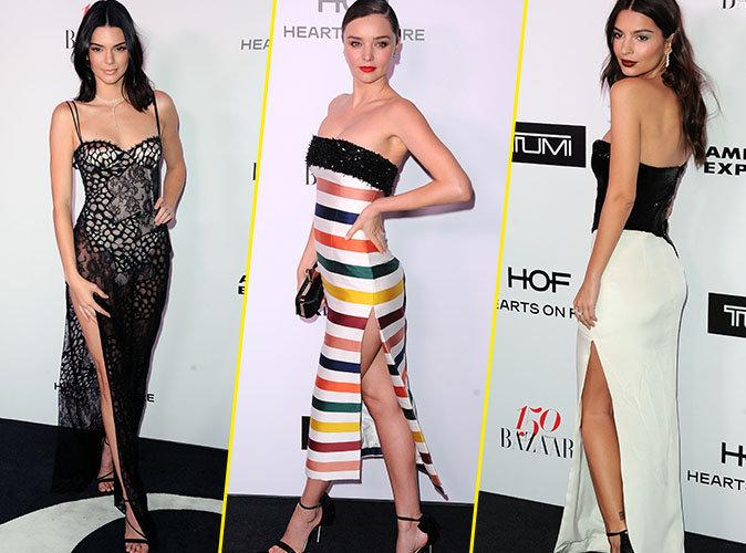 Kendall Jenner, Miranda Kerr, Emily Ratajkowski,... battle de robes fendues à la soirée Harper's Bazaar !