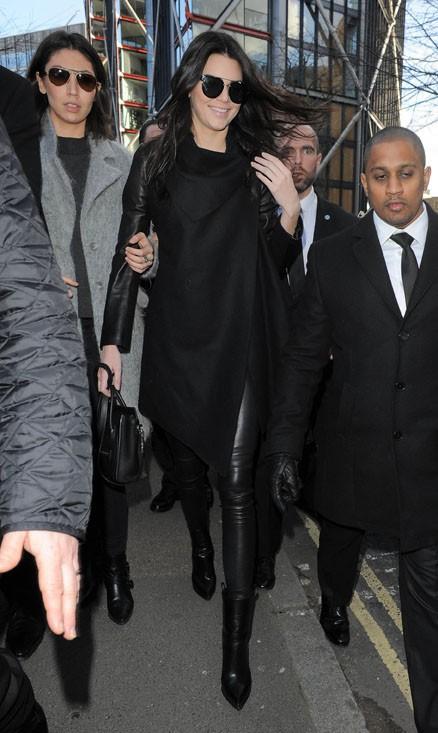 Kendall Jenner à Londres le 16 février 2014