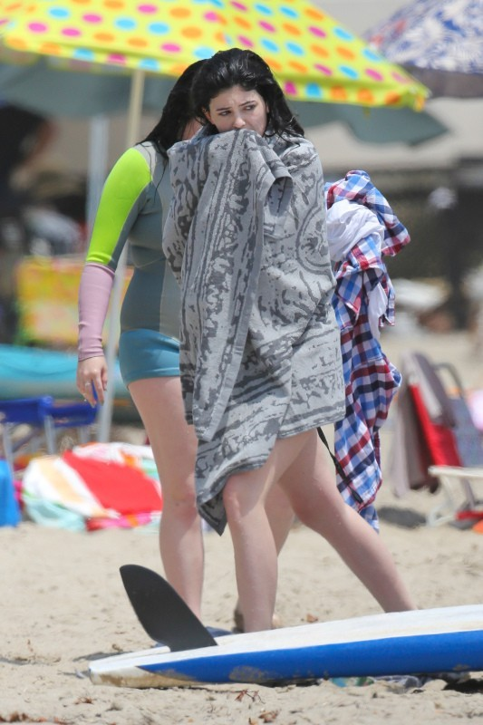 Kylie Jenner à Malibu, le 4 juillet 2013.