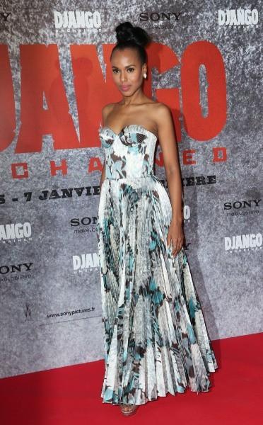 Kerry Washington lors de la première du film Django Unchained à Paris, le 7 janvier 2013.