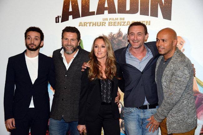 L'équipe des Nouvelles Aventures d'Aladin au Grand Rex le 6 octobre 2015