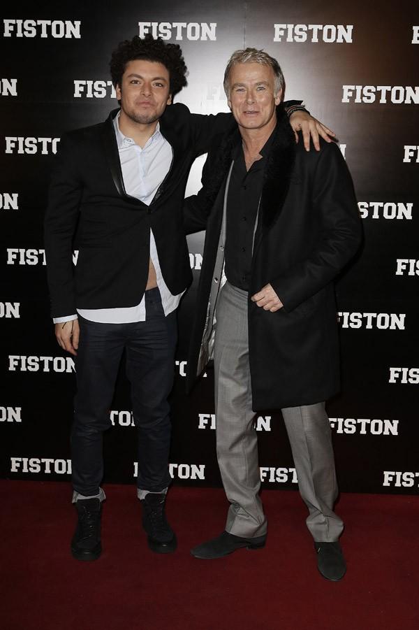 """Kev Adams et Franck Dubosc à l'avant-première de """"Fiston"""" organisée au Grand Rex de Paris le 10 février 2014"""