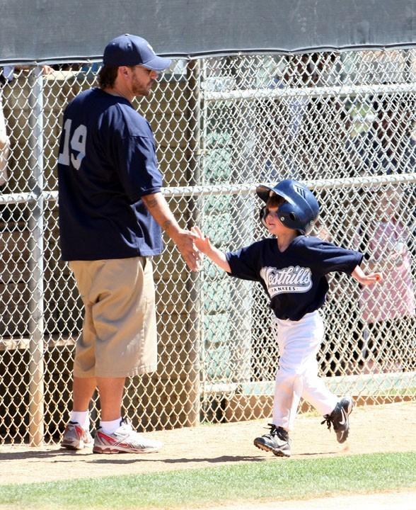 Avec son fils, Sean Preston, qu'il a eu avec Britney Spears