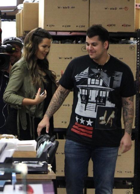 Khloe et Rob Kardashian, Los Angeles, 24 juin 2013.