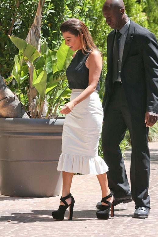 Kourtney Kardashian en tournage à Los Angeles le 25 juin 2013