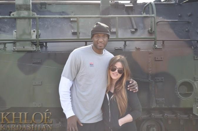 Khloé et Lamar au Camp Pendleton Marine Corps Base !
