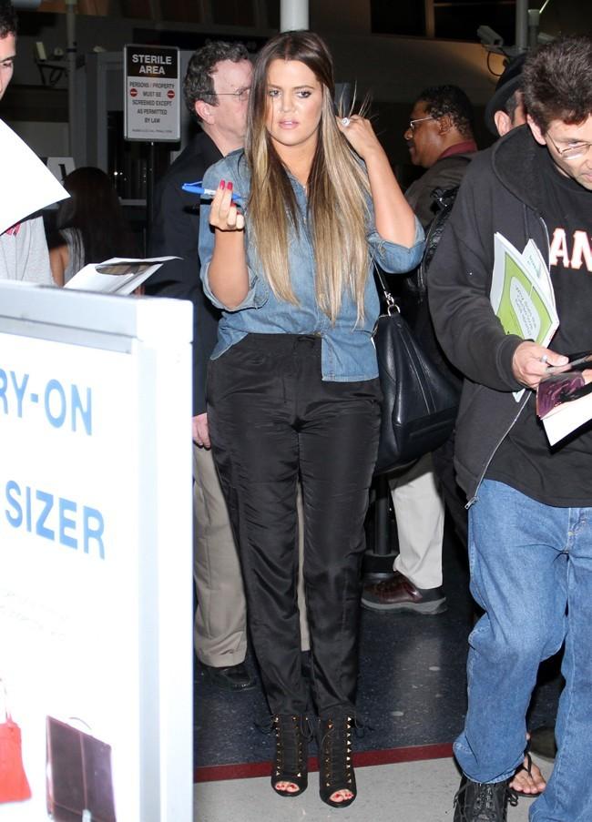 Khloé Kardashian à l'aéroport de Los Angeles le 29 mai 2013