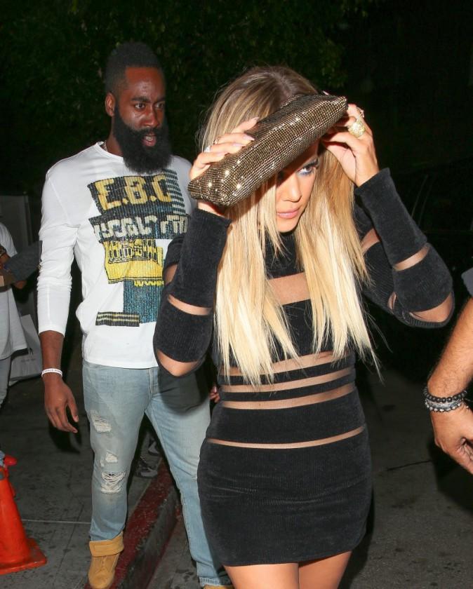Khloé Kardashian et James Harden à Los Angeles le 9 août 2015