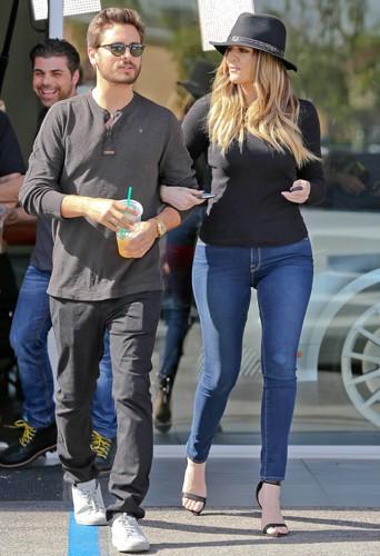 Scott Disick et Khloé Kardashian à Los Angeles le 20 février 2014