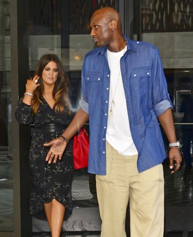 Lamar Odom et Khloe Kardashian à New York, le 20 juin 2012.
