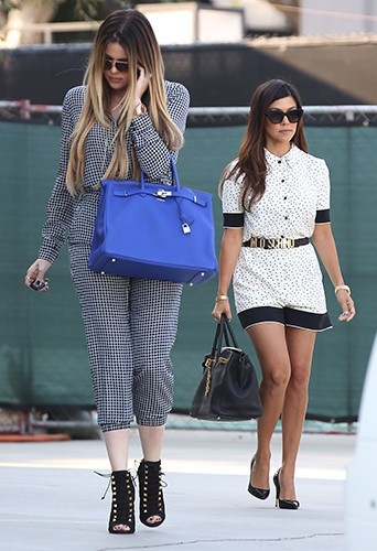 Khloe Kardashian et Kourtney Kardashian à Los Angeles le 9 septembre 2013