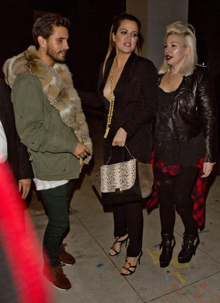 Khloe Kardashian et Scott Disick à Beverly Hills, le 25 novembre 2013.