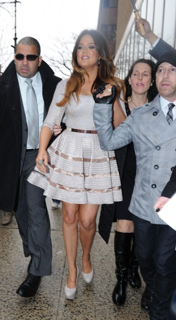 Khloe Kardashian à New York, le 15 février 2012.