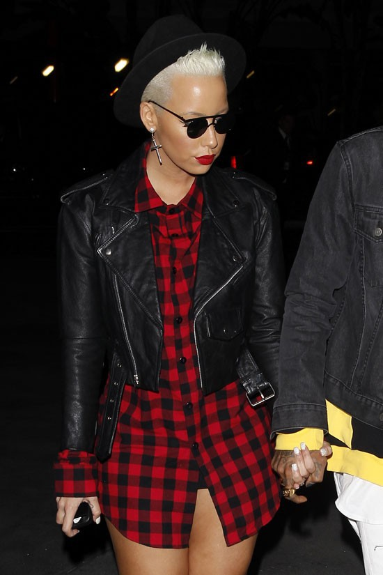 Amber Rose et Wiz Khalifa au concert de Jay-Z au Staples Center de Los Angeles le 9 décembre 2013