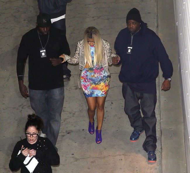Nicki Minaj au concert de Jay-Z au Staples Center de Los Angeles le 9 décembre 2013