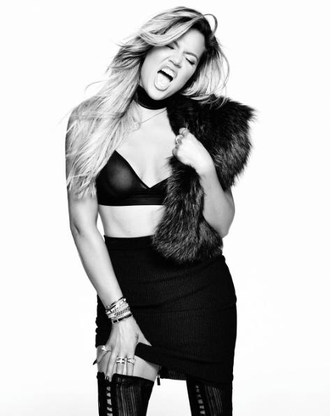 Khloe Kardashian pour Yahoo Style