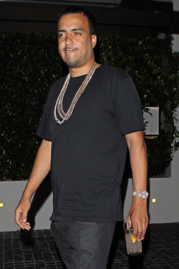 French Montana à West Hollywood le 10 avril 2014