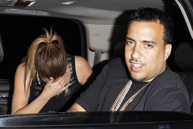 Khloé Kardashian avec French Montana à West Hollywood le 10 avril 2014