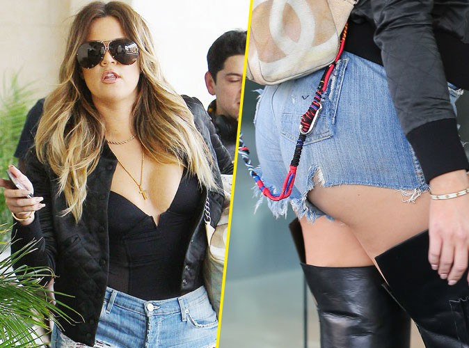 Khloé Kardashian : micro-short en jean, cuissardes, méga-decolleté... Vous avez dit too much ?!