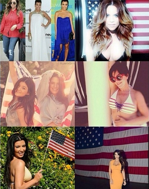 Kris Jenner en profite pour faire un album de famille bleu, blanc, rouge !