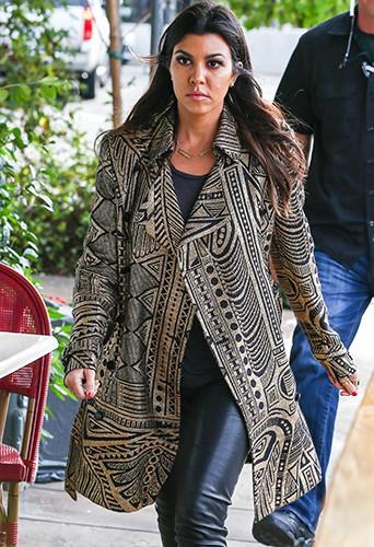 Kourtney Kardashian à Los Angeles le 31 janvier 2014