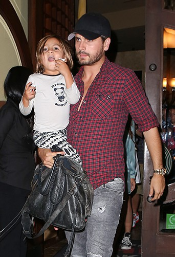 Scott Disick et son fils Mason à Los Angeles le 23 septembre 2013
