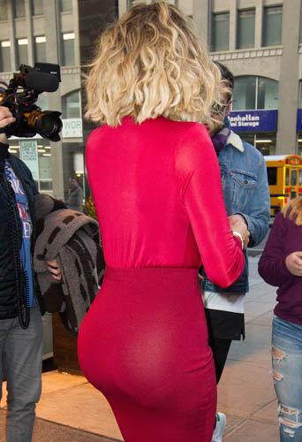 Khloe Kardashian quitte son hotel, à New York, le 14 janvier 2014