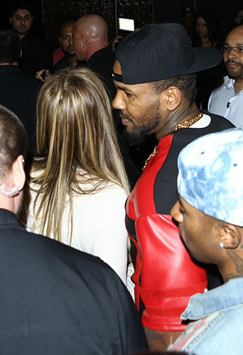 Khloé Kardashian et The Game à Los Angeles le 10 février 2014