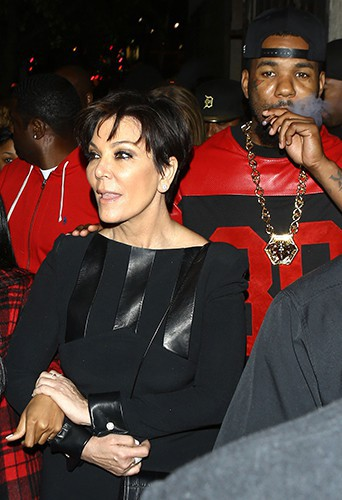 Kris Jenner et The Game à Los Angeles le 10 février 2014